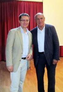 Martin Oberbauer (Ehrenamtsbörse) und Chairman Heinz Weiss